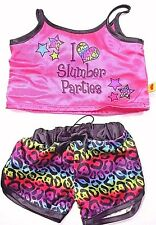 "Build Bear Workshop Girls Satin Pajama's ""I Love Slumber Parties"""
