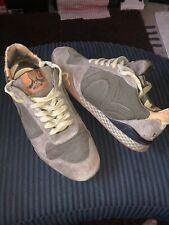 A Nice Vintage Pair Of Mens Green Trainers / Shoes By Evisu - Size 10