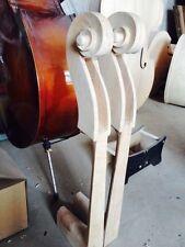 One piece de nice dbl bass scroll 3/4 maple 3/4 double bass neck