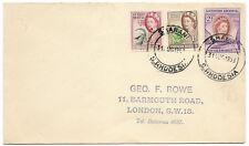 Southern Rhodesia 1953 FDC 3.1/2d rate SHABANI Aug 31