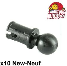 Lego technic - 10x Pin with Friction Towball rotule boule noir/black 6628 NEUF