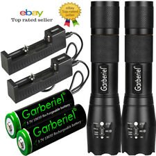 More details for 1- 4pack battery 3.7v li-ion rechargeable batteries+ led flashlight mini torch