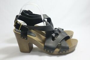 new look Size 11 Womens Open Toe X Top Clogs