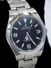 Rolex Explorer I 39mm 214270 Steel Oyster Black Dial Watch G SERIAL PAPERS *MINT