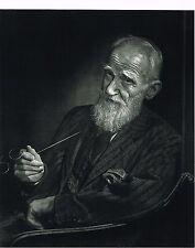 1960s Vintage George Bernard Shaw Portrait Yousuf Karsh Photogravure Photo Print