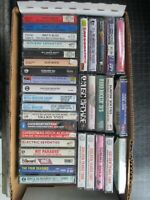 LOT OF 34 ROCK N ROLL COMPILATION CASSETTES SOME SEALED