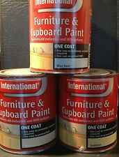 INTERNATIONAL ONE COAT UPCYCLE CUPBOARD FURNITURE PAINT 750ML 5 COLOURS