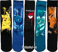 MENS SOCKS Novelty POKEMON GIFT PRIMARK 6-8 UK 9-12 UK - LOT PIKACHU/CHARIZARD