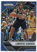 2016-17 Panini Prizm Basketball Blue Wave Prizm /99 #235 LaMarcus Aldridge Spurs