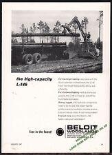 1967 BELOIT L-146 Logging Loader Vintage Photo AD Advertising