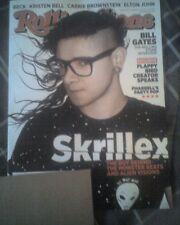 Skrillex Rolling Stone Magazine March 27, 2014 #1205 bill gates elton john
