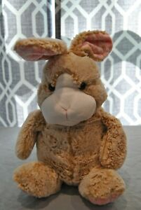 Child's Plush Toy Bunny Rabbit by Animal Adventure Light Beige and Pink in Color