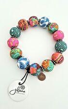 Jilzara Premium Grueso mosaico Abalorios Stretch Pulsera De Varios Colores Regalo para Mujer