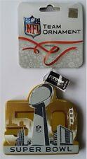 Super Bowl 50 NFL Resin Logo Trophy Ornament - Rare Collectible
