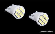 2x lampada luci posizione t10 8 SMD 8 LED hyper led bianca auto 6000k Reali