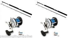 2 x Boat Fishing Rods & Reels Abu Garcia GT 30 Boat Rod & JD500 Multiplier Reel