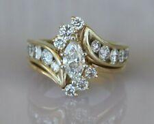 1.92 Carats tw Marquise Diamond 14k Yellow Gold Ring ~ w/ Appraisal $6100 ~ Sz 6