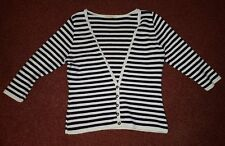 Cute Blue and White Stripped Cardigan Size 10