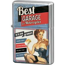 Nostalgic-art-bilderpalette 80257 Biker's Best Garage Corner Briquet Bleu