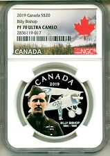 2019 Canada S$20 Billy Bishop NGC PF70 Ultra Cameo Box COA OGP