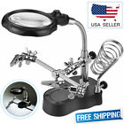 Third Hand Soldering Solder Iron Stand Holder Magnifier Helping Station Tools
