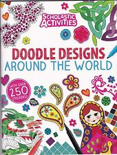 Doodle Designs Around the World - Doodle - Sticker - Activity - Colouring Book