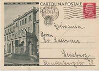 1936 OPERE DEL REGIME ROMA ISTITUTO DI ANATOMIA UMANA INTERO POSTALE 75C