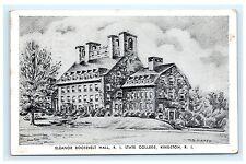 Eleanor Roosevelt Hall Rhode Island R.I. State College Kingston Postcard 1951