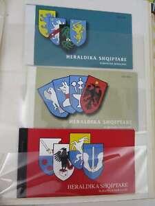ALBANIA  THREE BOOKLETS MNH** HERALDIKA /df677