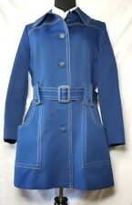 Vintage Outer Banks by Jerold Navy Blue Belted Raincoat Jacket Trench 1960's Md