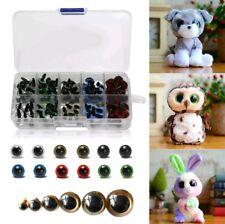 100X Plastic Safety Eyes Toys for Teddy Bear Doll Animal Making Craft DIY Screws