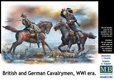 Master Box Ltd. Master Box MB35184–Figurines British and German cavalrymen, WW