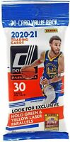2020-21 Panini Donruss Basketball Fat Pack Value Cello 30 Cards Brand New Sealed