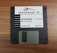 """3,5"""" Diskette Mouseware 2.1a 95 Mouse Driver 601346-2102 Logitech von 1996 Win95"""