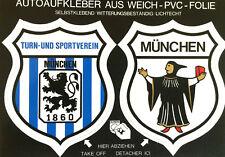 TSV 1860 München Stadt Aufkleber Sticker Logo Bundesliga Fussball #417