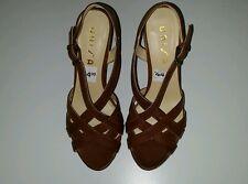 New Unisa Unalason J Womens Wedge Heels Brown Sandal Size 6 1/2 M (B)