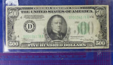 1934A US $500 Dollar Bill Cleveland Note D 00034178A Low Serial Good Condition
