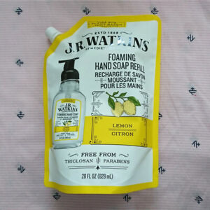 JR Watkins Lemon Foaming Hand Soap Refill 28oz/828ml Fast Free Shipping NEW