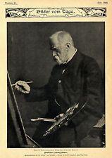 Zum 75.Geburtstag eines Altmeisters deutscher Malerei  Prof.Ludwig Knaus c.1904