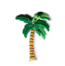 """PALM TREE (1 1/2"""") Iron On Embroidered Patch Tropical Beach"""