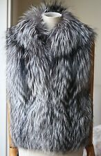 Scoop Nyc Raccoon Pelz Weste Gilet Small