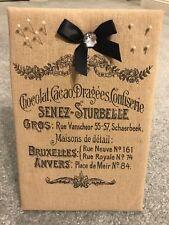 """Parisian French Memo Board Easel Beige 8 w x 12 h """"Pearl"""" Push Pins EUC!"""