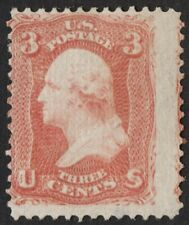 "US Sc# 94 *MINT RG NH* { 3c WASHINGTON } ""F GRILL FROM 1867 SERIES CV$ 150.00"