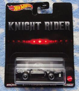 K.I.T.T. SUPER PURSUIT MODE KNIGHT RIDER KITT #81633 DIECAST 1/64 HOT WHEELS