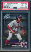 PSA 10 JUAN SOTO 2017 Bowman Chrome Draft Nationals Base Rookie Card RC GEM MINT