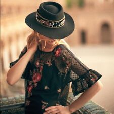 Anthropologie Cadiz Lace Embroidered flutter sleeve blouse top NEW M 8 10 MAEVE