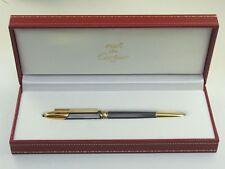 Cartier Cougar Gunmetal Gray and Gold Plated Ballpoint Pen MINT