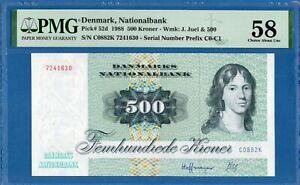 Denmark, 500 Kroner, 1988, AUNC-PMG58, P52d