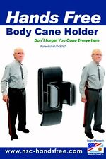 Walking  stick Cane Holder - Handsfree Carrier attached to you - Smart Gift