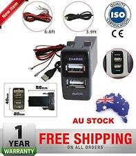 Dual USB Charger/Audio Switch Toyota Prado 120 FJ Cruiser Hilux LC100 OEM Design